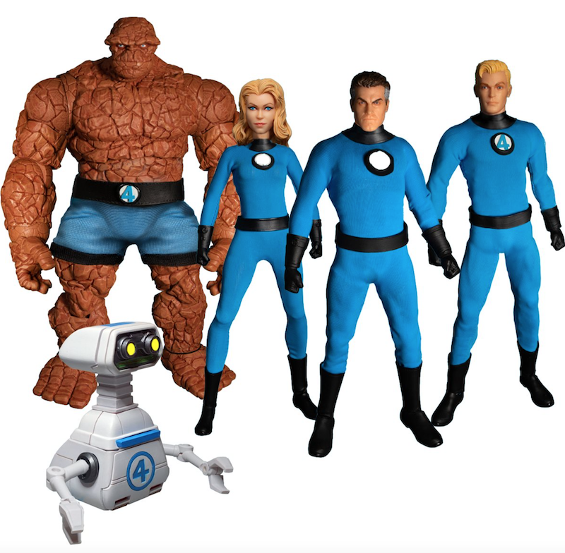 Mezco Toyz Fantastic Four One:12 Collective Deluxe Steel Boxed Set Pre-Orders