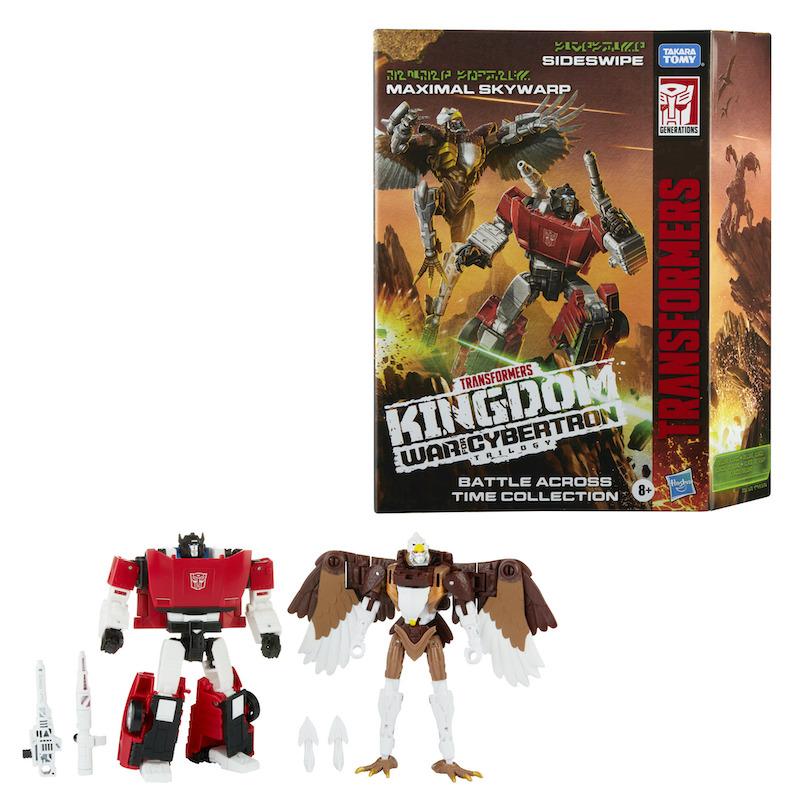 Hasbro Transformers War For Cybertron: Kingdom – Battle Across Time Sideswipe & Skywarp Figures Available Now
