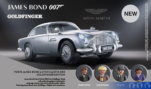 Playmobil 70578 James Bond Aston Martin DB-5 Goldfinger Edition Car