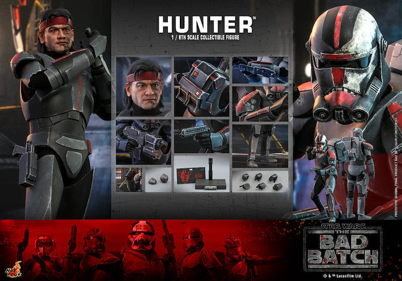 Hot Toys Star Wars: The Bad Batch Hunter Sixth Scale Figure Pre-Orders