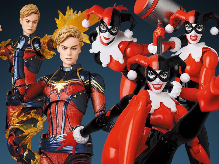 Medicom – MAFEX Captain Marvel & Harley Quinn (Hush) Figure Pre-Orders