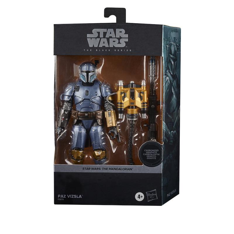 Hasbro Star Wars The Black Series The Mandalorian Carbonized Scout Trooper, Shoretrooper &  Paz Vizlsa Figures