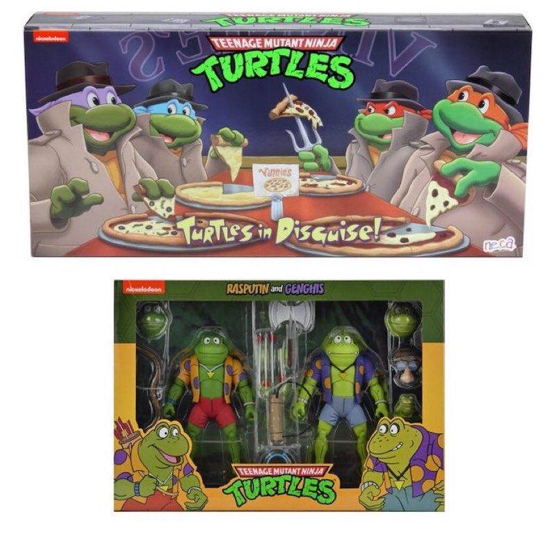 NECA Toys Teenage Mutant Ninja Turtles – Turtles In Disguise & Rasputin/Genghis Frog 2-Pack Pre-Orders