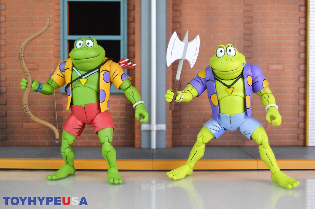 NECA Toys Teenage Mutant Ninja Turtles Classic Cartoon Genghis & Rasputin Frog Figures Review