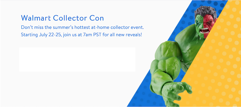 Wal-Mart Collector Con – San Diego Comic-Con 2021 Product Announcements