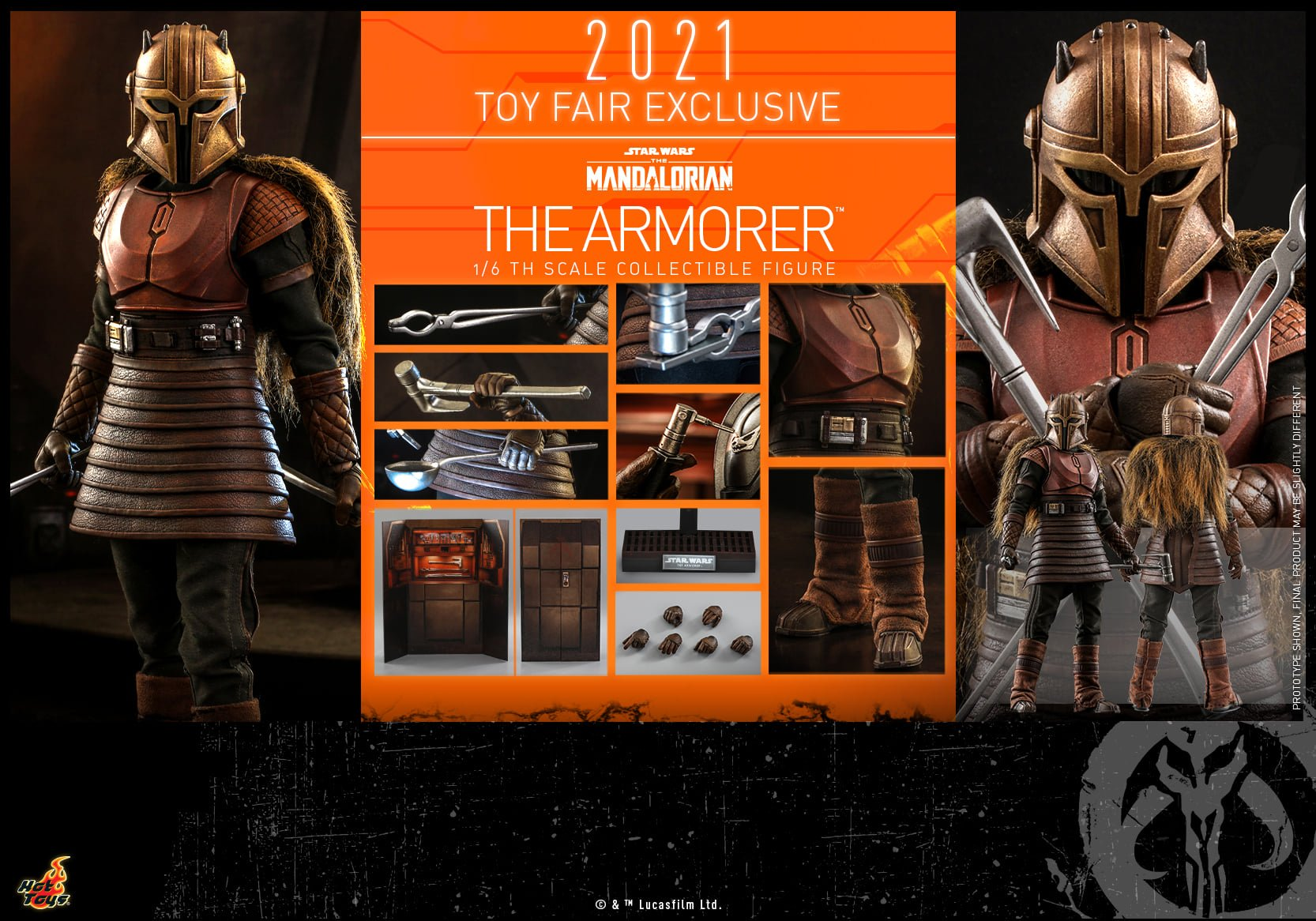 Hot Toys Star Wars The Mandalorian The Armorer Sixth Scale Figure