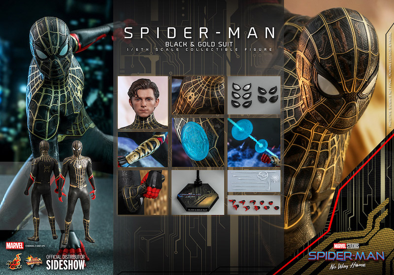 Hot Toys Spider-Man Black & Gold Suit Sixth Scale Figure Pre-Orders