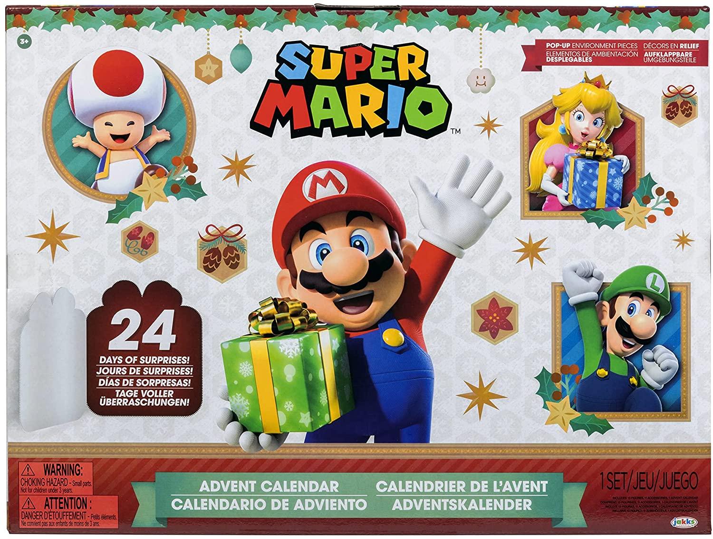 Jakks Pacific Super Mario Advent Calendar Christmas Edition 2021 Pre-Orders
