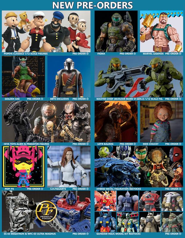 BigBadToyStore News – Popeye, Doom, Halo, Marvel Legends, Mandalorian, Alien, Predator, LOTR, Transformers, TMNT & More