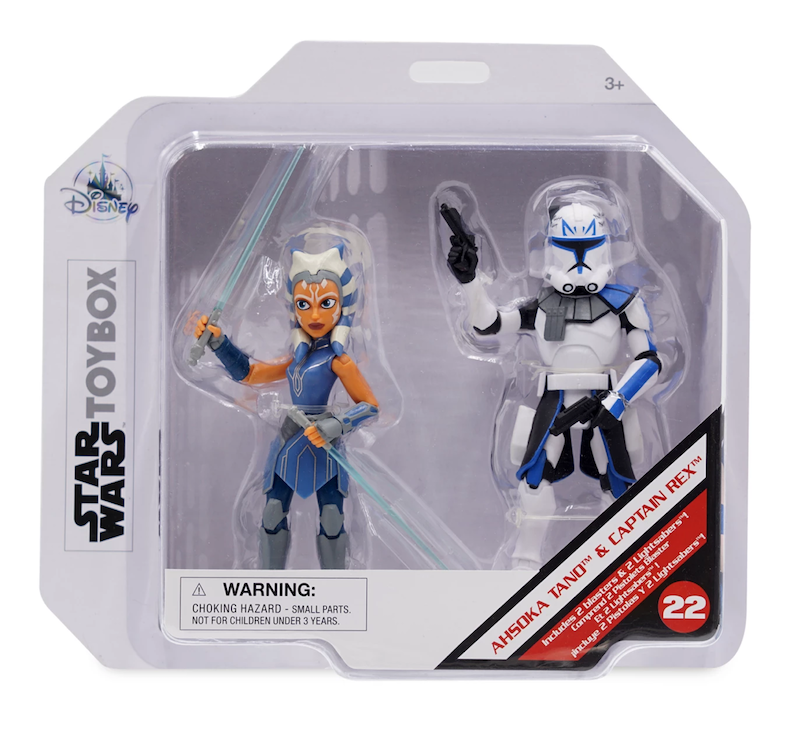 Disney Store Exclusive Star Wars Toy Box Ahsoka Tano & Captain Rex Set Available Now