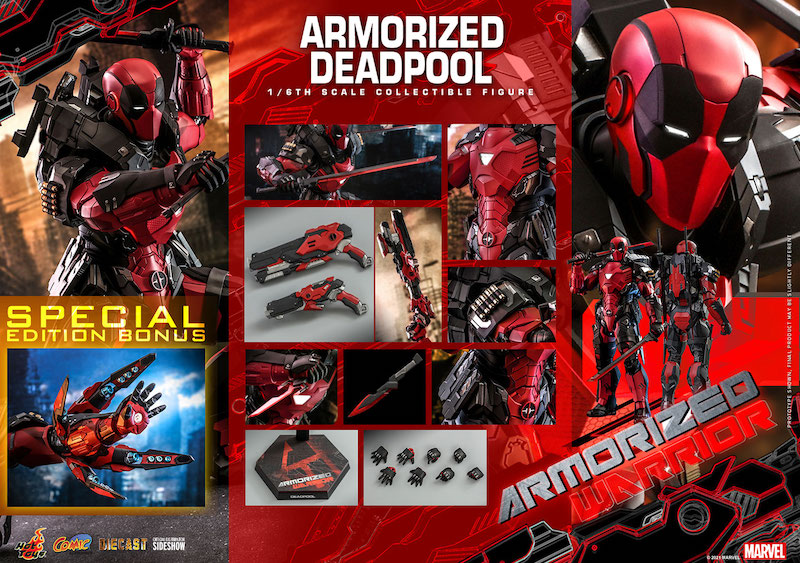 Hot Toys Armorized Deadpool Special Edition Sixth Scale Figure Pre-Orders