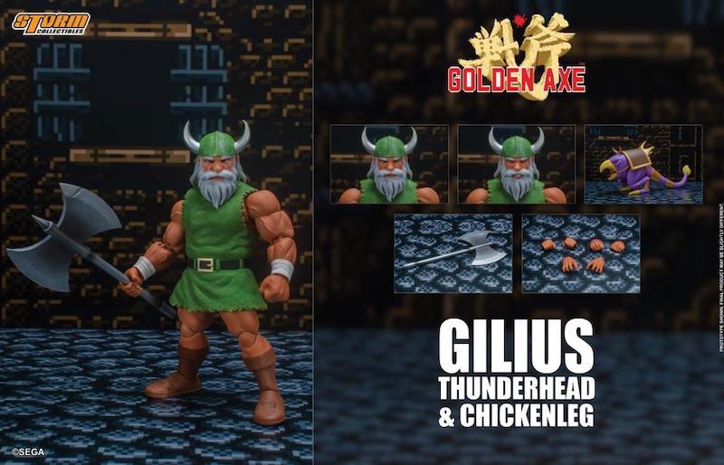 Storm Collectibles Golden Axe Gilius Thunderhead & Chickenleg 1/12 Scale Figure Set
