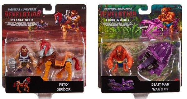 Mattel – Masters of the Universe Revelation Fisto & Beast Man Mini Figures