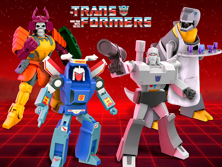 Super7 Transformers Ultimates Wave 2 – Megatron, Grimlock, Bludgeon & Tracks Figure Pre-Orders