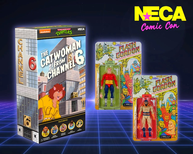 NECA Toys SDCC 2021 Exclusive Teenage Mutant Ninja Turtles Channel 6 Box Set & Defenders Product Details