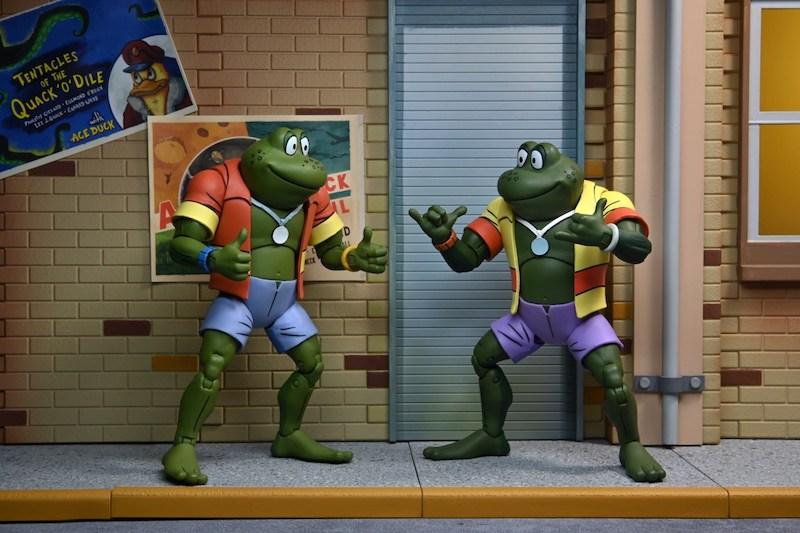 NECA Toys Teenage Mutant Ninja Turtles Classic Cartoon Attila & Napoleon Bonafrog Figures