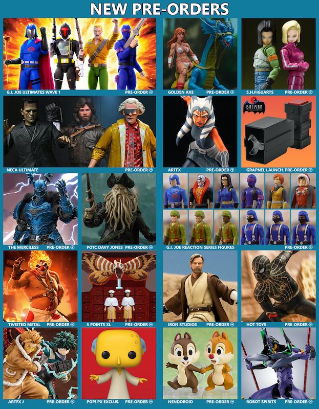 BigBadToyStore News – G.I. Joe, Golden Axe, Star Wars, NECA Ultimate, Mothra, Dragon Ball, Simpsons, Transformers, Anime & More