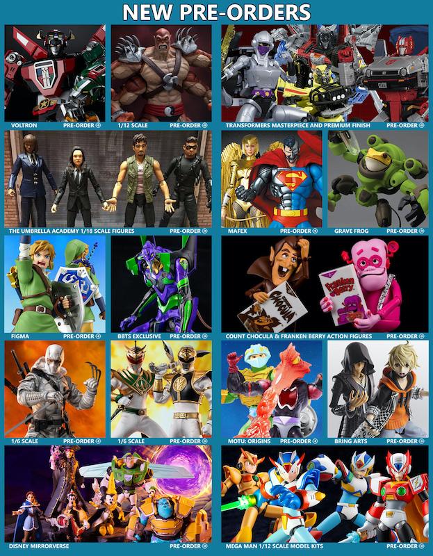 BigBadToyStore News – Voltron, Transformers, Mortal Kombat, DC MAFEX, MOTU, Umbrella Academy, Mega Man, Zelda, TWEWY, Evangelion & More