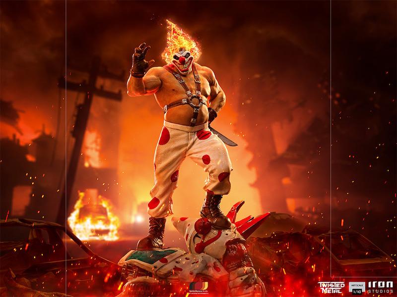 Iron Studios – Twisted Metal – Sweet Tooth Needles Kane Statue Pre-Orders