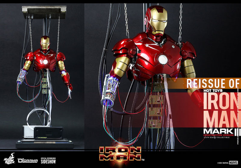 Hot Toys Iron Man Mark III (Construction Version) Sixth Scale Figure Pre-Orders