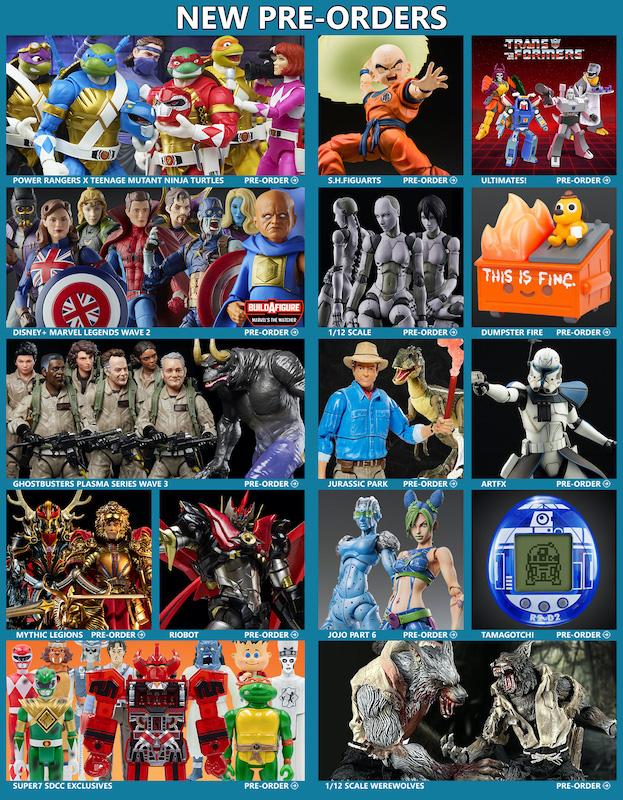 BigBadToyStore News – Power Rangers X TMNT, Krillin, Mythic Legions, Ghostbusters, Marvel Legends, Jurassic Park, Anime & More