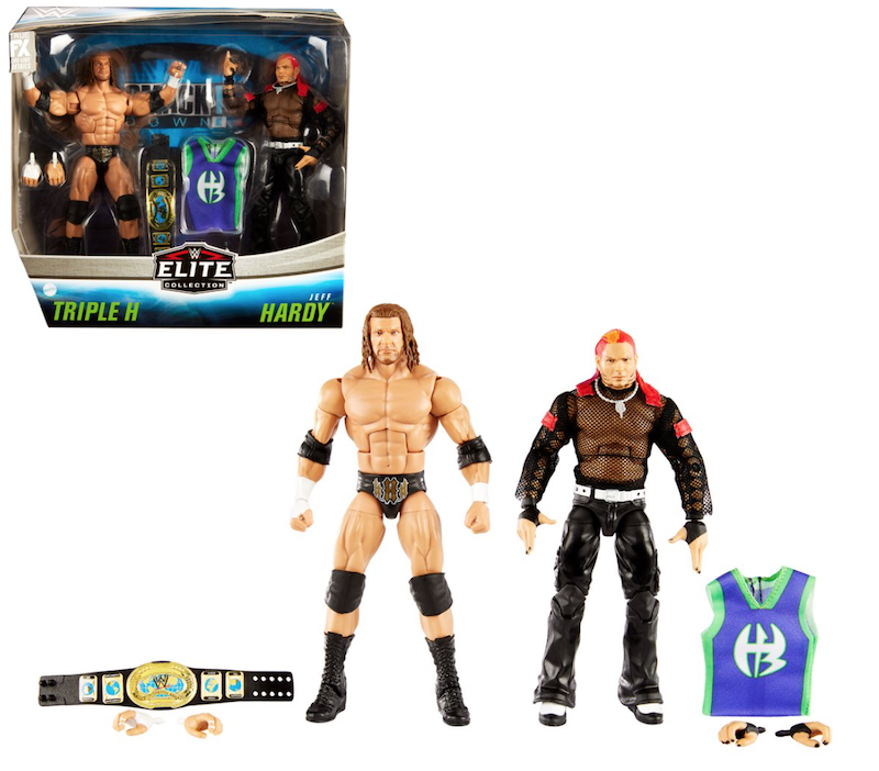 Mattel – WWE Elite Collection Triple H & Jeff Hardy Figure 2-Pack Available Now