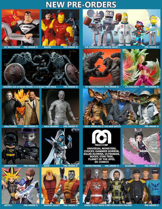 BigBadToyStore News – Golden Axe, The Simpsons, DC Multiverse, NECA Horror, Godzilla, MAFEX, MOTU, Dragon Ball, DOOM & More