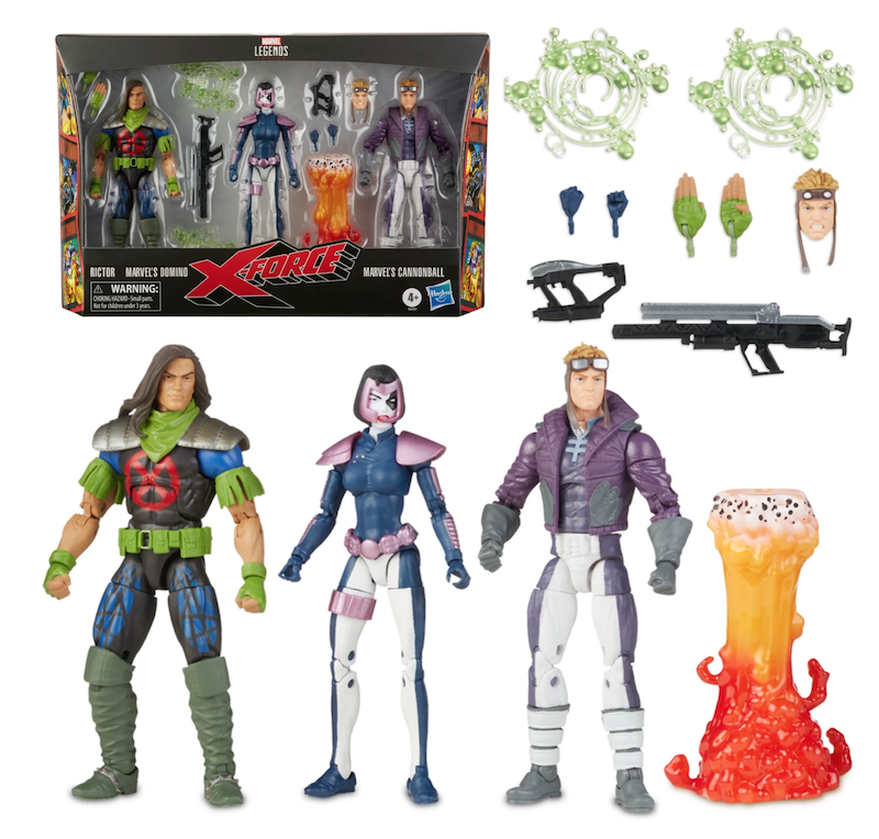 Hasbro Marvel Legends 6″ X-Force – Domino, Rictor & Cannonball 3-Pack Pre-Orders At ShopDisney