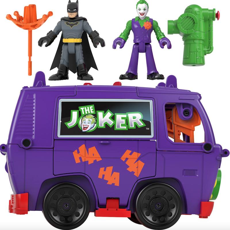 Fisher-Price Imaginext DC Super Friends – Joker Van, Superman Robot, Dueling Duos, Tech Batcycle &  Batcave