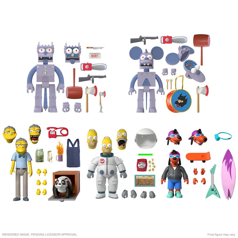 Super7 – The Simpsons Ultimates Wave 1 Figures Pre-Orders