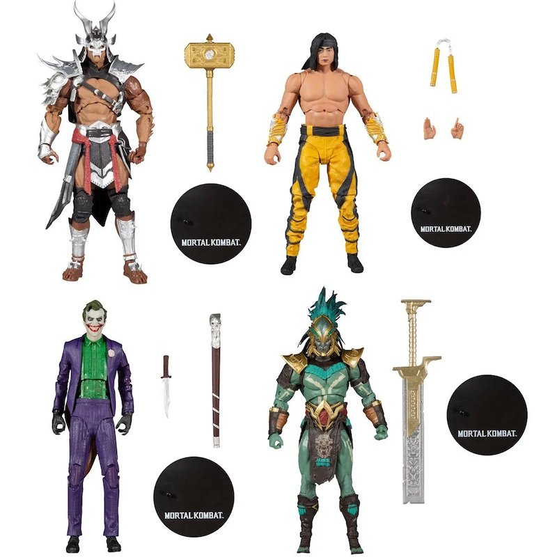 McFarlane Toys Mortal Kombat XI Liu Kang, Shao Kahn, Kotal Kahn & The Joker Figure Pre-Orders