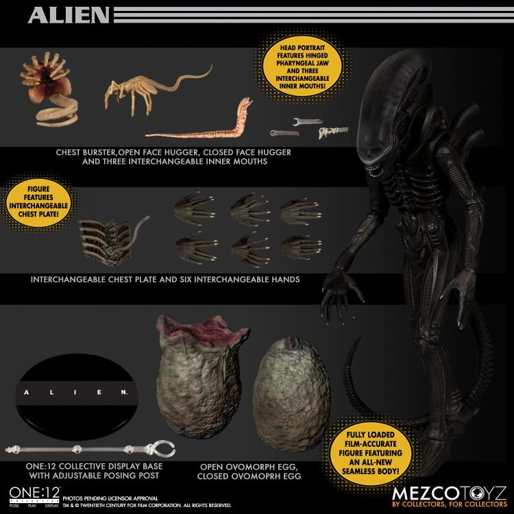 Mezco Toys Alien Xenomorph One:12 Collective Figure Pre-Orders