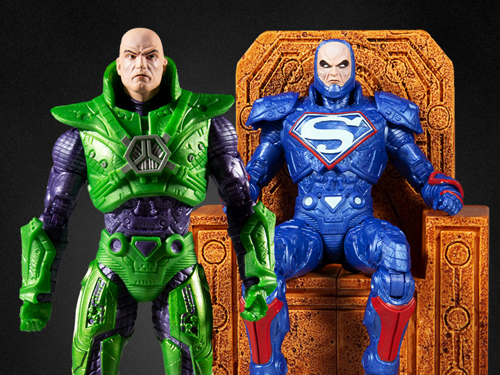 McFarlane Toys DC Multiverse Lex Luther In Green Power Suit & Blue Power Suit With Throne Figure Pre-Orders