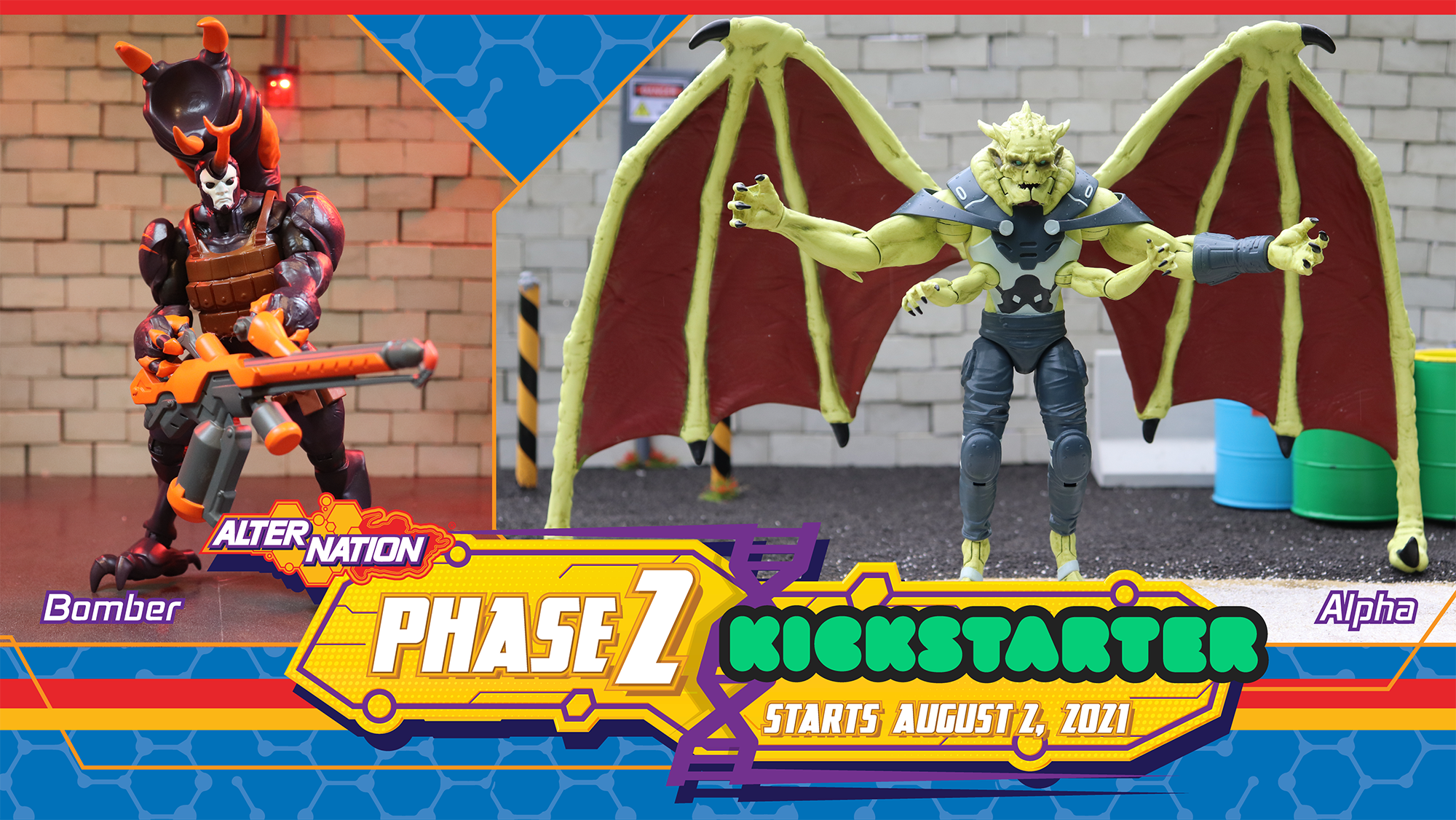 PandaMony Toys – Alter Nation Phase II Figures Kickstarter Campaign Ends Sept. 1, 2021