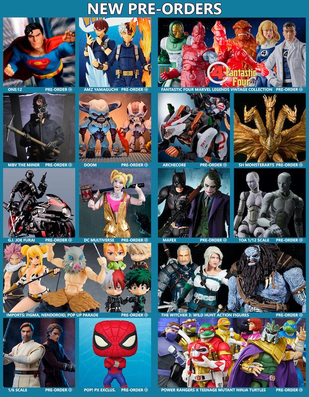BigBadToyStore News – Superman, Fantastic Four, My Hero Academia, MAFEX, DC Multiverse, Spider-Man, Doom, Ghidorah, The Witcher, Demon Slayer & More