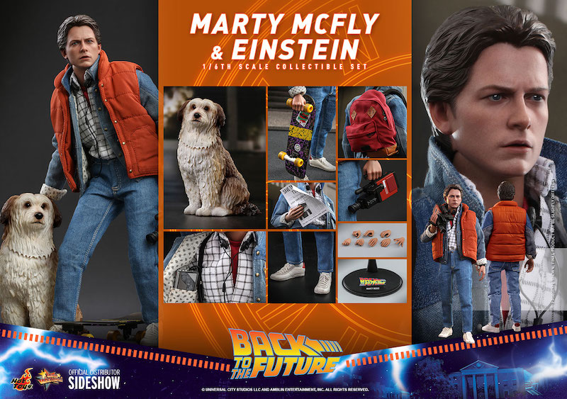 Sideshow Collectibles Back to the Future Marty McFly & Einstein Sixth Scale Figures Pre-Orders
