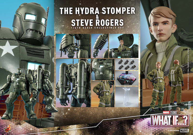 Hot Toys Marvel What If?… Steve Rogers & The Hydra Stomper Sixth Scale Figure Pre-Orders