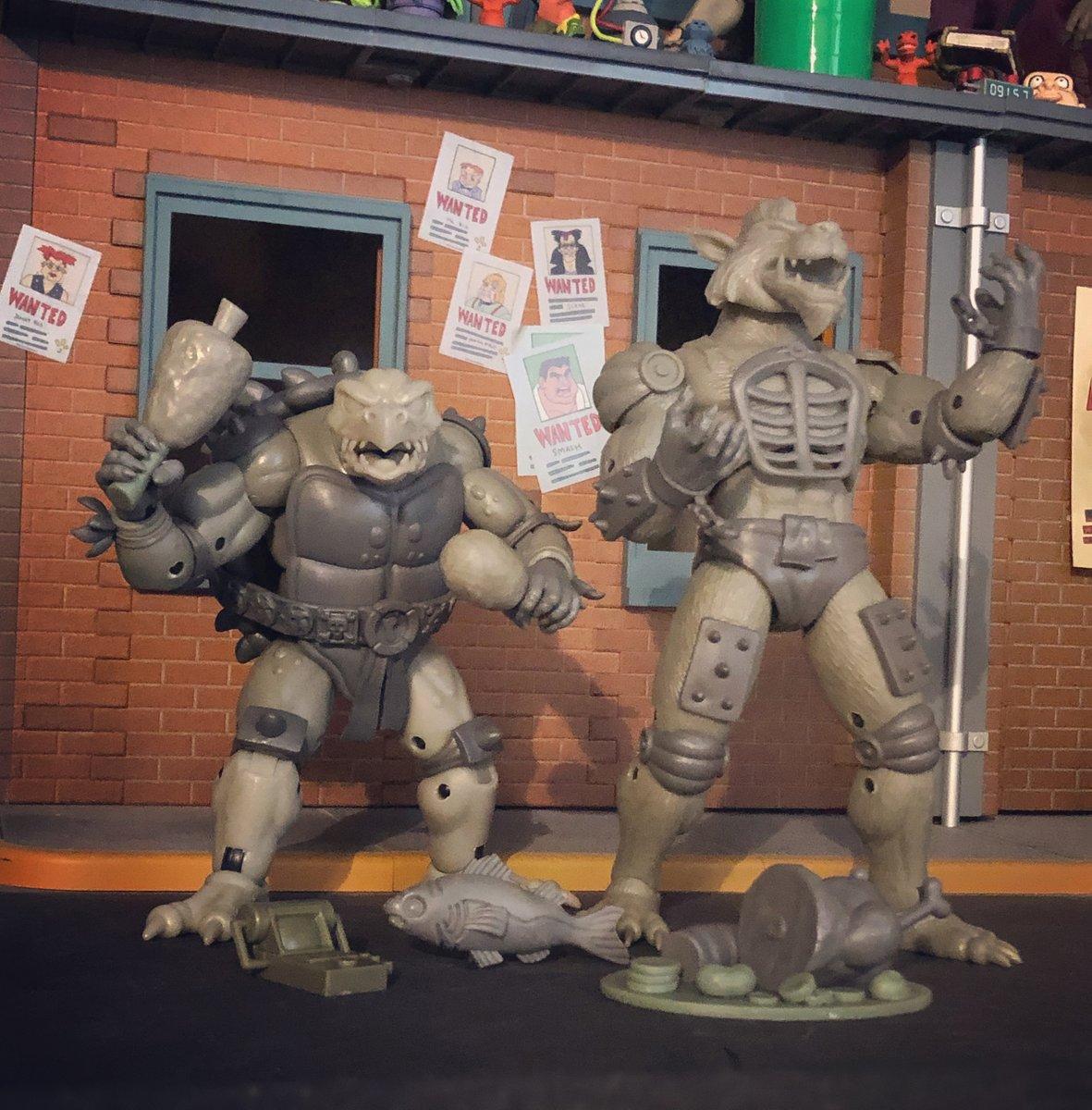 NECA Toys Previews Teenage Mutant Ninja Turtles Classic Cartoon Tokka & Rahzar Figures