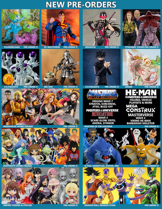 BigBadToyStore News – Plunderlings, DC Multiverse, DBZ, Mandalorian, G.I. Joe, MOTU, Anime, Gargoyles, Stranger Things & More