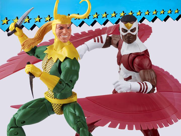 Hasbro Marvel Legends 6″ Retro Collection The Falcon & Loki Figure Pre-Orders