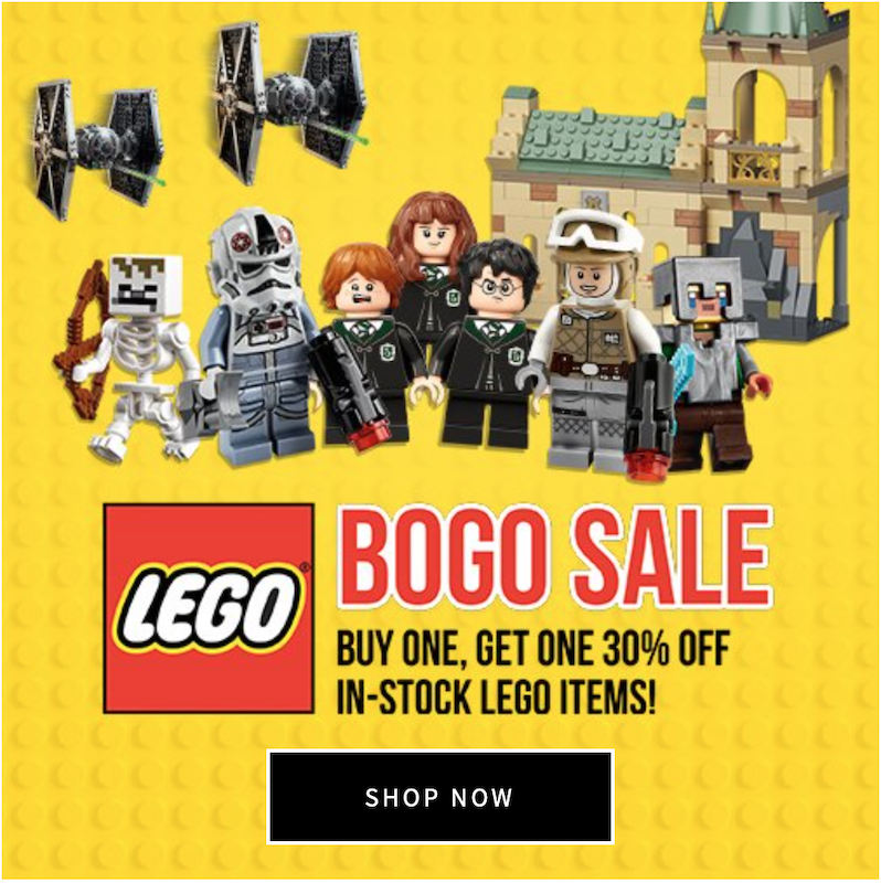 Entertainment Earth BOGO LEGO Sale – Buy 1 Get 1 At 30% Off In-Stock Sets