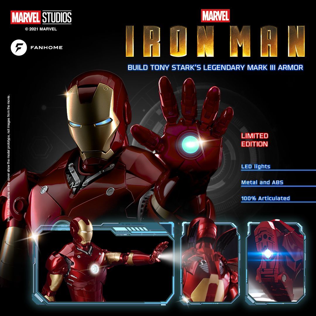 FanHome Details Incredible New Iron Man Partwork Build Up Model