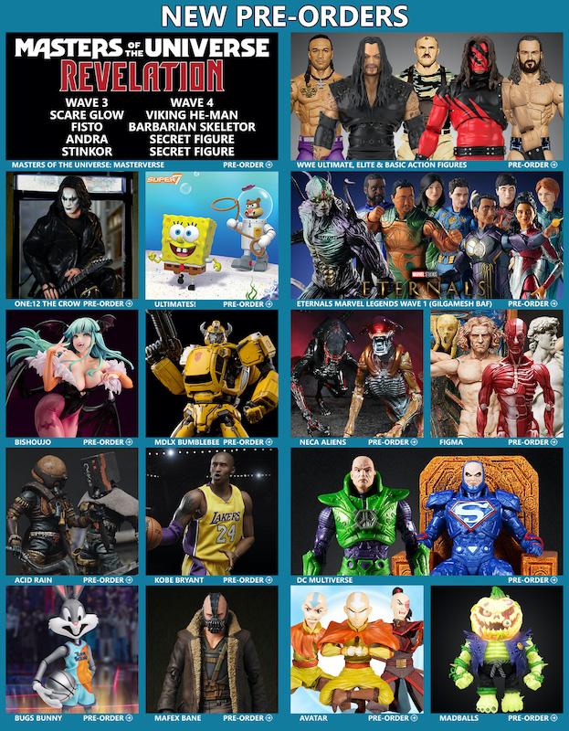 BigBadToyStore News – MOTU, WWE, Marvel Legends, The Crow, SpongeBob, Pokemon, DC Multiverse, Bishoujo, figma, Transformers & More