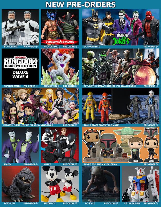 BigBadToyStore News – George Lucas, Transformers, D&D, DC Multiverse, Godzilla, Anime, Marvel Legends, Pokemon, MAFEX & More