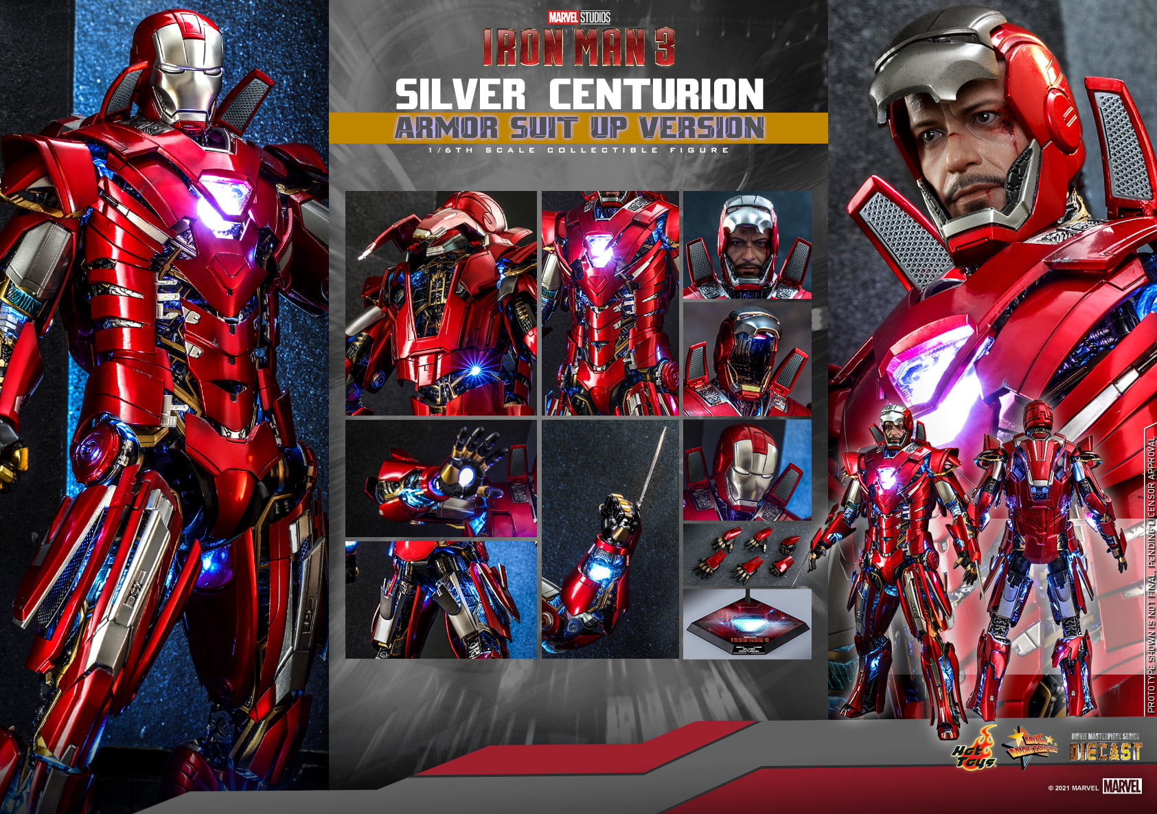 Hot Toys Silver Centurion (Armor Suit Up Version) Sixth Scale Figure Pre-Orders