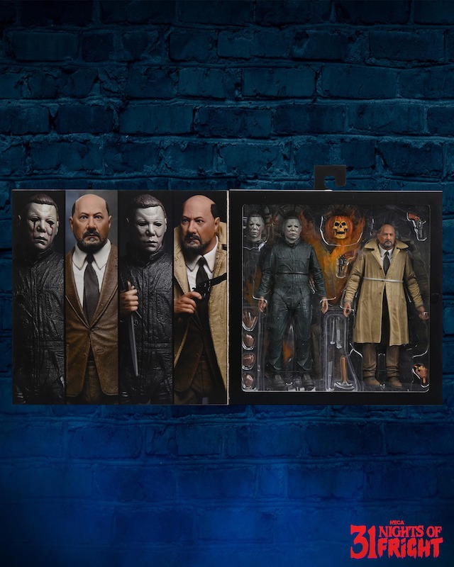 NECA Toys 31 Nights of Fright Reveal – Halloween 2: Ultimate Michael Myers & Dr. Loomis Figures In-Packaging