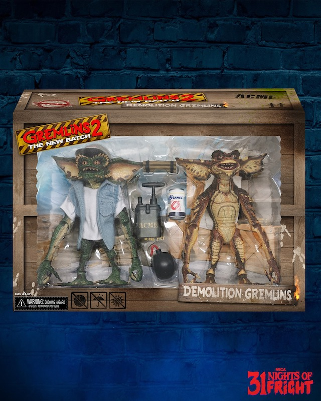 NECA Toys 31 Nights of Fright Reveal – Ultimate Demolition Gremlins 2-Pack In-Packaging