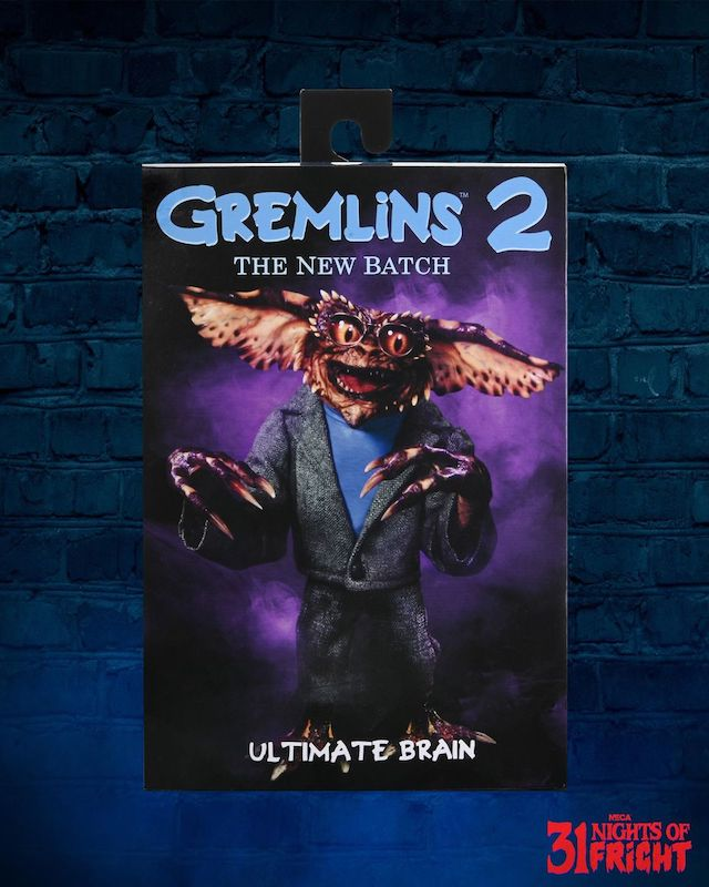 NECA Toys 31 Nights of Fright Reveal – Gremlins 2: The New Batch Ultimate Brain Figure In-Packaging