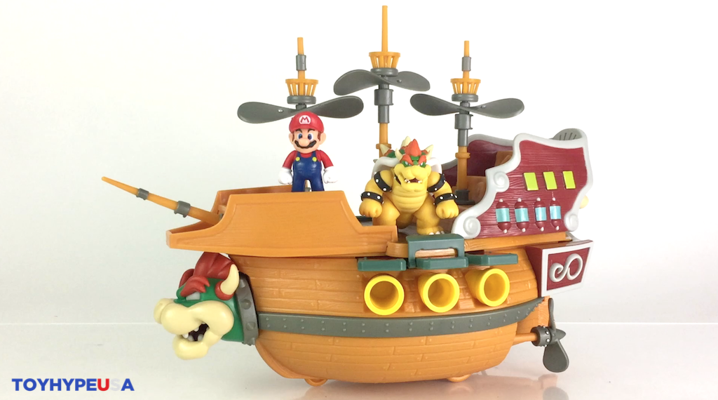 Jakks Pacific Super Mario – 2.5″ Deluxe Bowser AirShip Playset Video Review