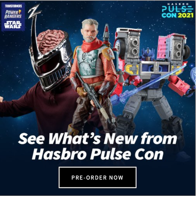 Entertainment Earth – Get Free Shipping On All New Pre-Orders For Hasbro PulseCon 2021